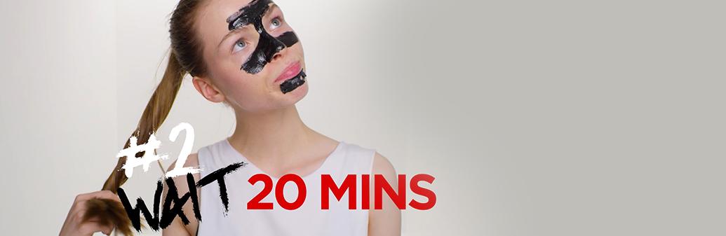 Garnier Skin Peel off mask step 2