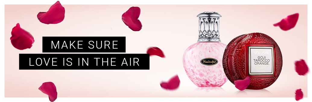 Valentine's scented candles and home fragrance