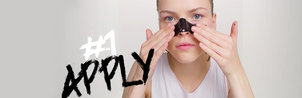 Garnier Skin Peel off mask step 1