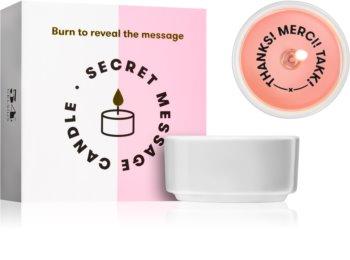 54 Celsius Secret Message Candle Thanks! Merci! Takk! gyertya