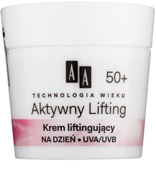 AA Cosmetics Age Technology Active Lifting vyhlazující krém pro zpevnění kontur obličeje 50+