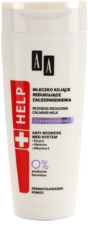 AA Cosmetics Help Dilated Capillaries zklidňující pleťové mléko pro citlivou pleť se sklonem ke zčervenání