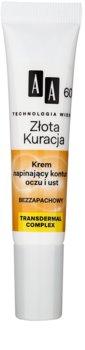 AA Cosmetics Age Technology Golden Therapy zpevňující krém na hluboké vrásky kolem očí a rtů 60+