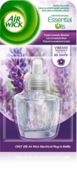 Air Wick Essential Oils Purple Lavander Meadow elektrický osviežovač vzduchu 19 ml náhradná náplň