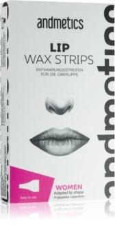 andmetics Wax Strips strisce depilatorie per il labbro superiore