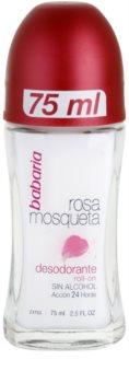 Babaria Rosa Mosqueta Deodorant roll-on cu extracte de trandafiri salbatici