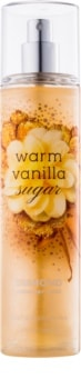 Bath & Body Works Warm Vanilla Sugar telový sprej trblietavý pre ženy