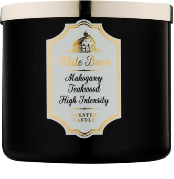 Bath & Body Works White Barn Mahogany Teakwood High Intensity duftkerze