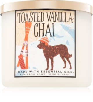 Bath & Body Works Toasted Vanilla Chai vonná sviečka