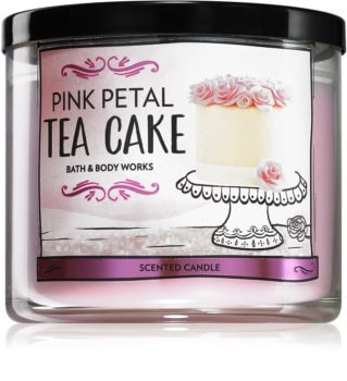 Bath & Body Works Pink Petal Tea Cake duftkerze  I.