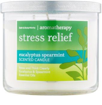 Bath & Body Works Stress Relief Eukalyptus Spearmint vonná sviečka