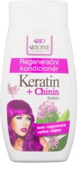 Bione Cosmetics Keratin + Chinin regenerační kondicionér na vlasy