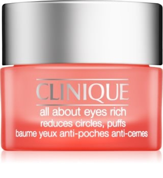 Clinique All About Eyes Rich crema de ochi hidratanta impotriva cearcanelor si ochilor umflati