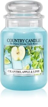 Country Candle Cilantro, Apple & Lime vonná sviečka