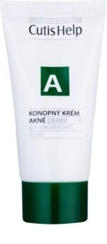 CutisHelp Health Care A - Acne crema giorno alla canapa per pelli problematiche, acne