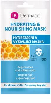 Dermacol Hydrating & Nourishing Mask maschera in panno 3D idratante e nutriente