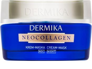 Dermika Neocollagen Éjszakai regeneráló és ráncokat csökkentő krémes maszk