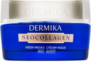 Dermika Neocollagen maschera in crema notte per rigenerare la pelle e ridurre le rughe