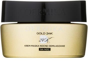 Dermika Gold 24k Total Benefit maschera-crema notte effetto rigenerante