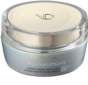 Dermika HydraLOGIQ crema idratante opacizzante per pelli normali e miste