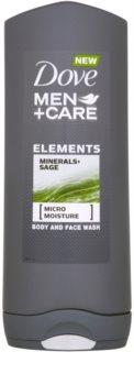 Dove Men+Care Elements gel doccia per viso e corpo 2 in 1