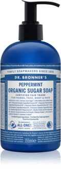 Dr. Bronner's Peppermint tekuté mýdlo na tělo a vlasy