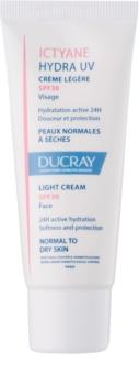 Ducray Ictyane crema leggera per pelli normali e secche SPF 30