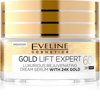 Eveline Cosmetics Gold Lift Expert denní a noční krém 60+ s omlazujícím účinkem