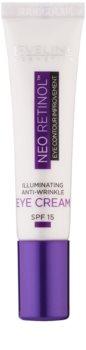 Eveline Cosmetics Neo Retinol protivráskový rozjasňující oční krém SPF 15