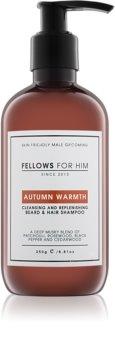 Fellows for Him Autumn Warmth shampoo per capelli e barba