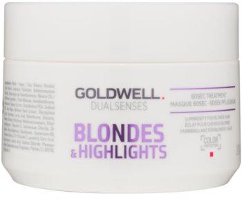 Goldwell Dualsenses Blondes & Highlights Regenerierende Maske neutralisiert gelbe Verfärbungen