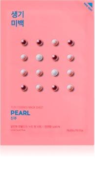 Holika Holika Pure Essence Mask Sheet Pearl plátýnková maska s rozjasňujícím účinkem