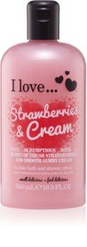 I love... Strawberries & Cream crema per doccia e bagno