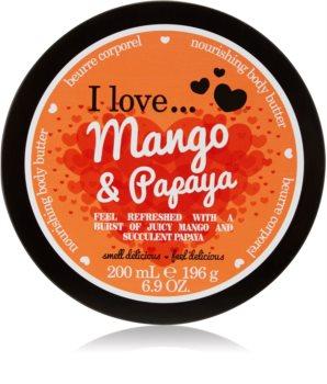 I love... Mango & Papaya burro corpo