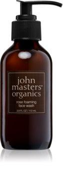 John Masters Organics Rose mousse detergente delicata per pelli normali e secche