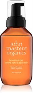 John Masters Organics Lemon & Ginger Schaumseife für Hand und Körper