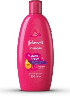 Johnson's Baby Shiny Drops detský šampón s arganovým olejom