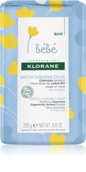 Klorane Bébé Calendula sapone nutriente per neonati