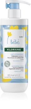 Klorane Bébé Calendula hydratačné telové mlieko pre deti od narodenia