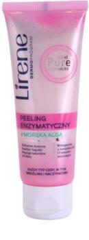 Lirene Algae Pure scrub con enzimi per pelli sensibili con tendenza all'arrossamento