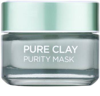 L'Oréal Paris Pure Clay maschera detergente opacizzante