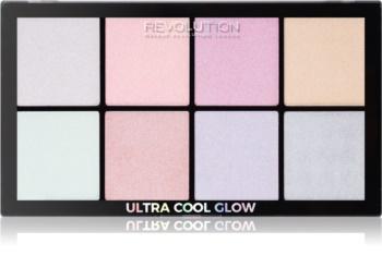Makeup Revolution Ultra Cool Glow paleta rozjasňovačů