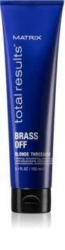 Matrix Total Results Brass Off termoochranný krém pro uhlazení nepoddajných vlasů