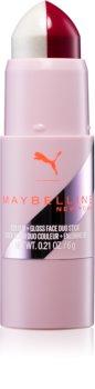 Maybelline Puma x Maybelline Color + Gloss Face Duo Stick vodeodolná lícenka a rozjasňovač
