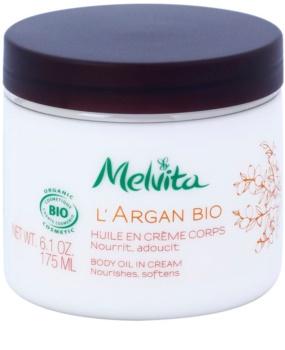 Melvita L'Argan Bio výživný telový krém pre jemnú a hladkú pokožku