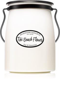 Milkhouse Candle Co. Creamery Tiki Beach Flower illatos gyertya  Butter Jar
