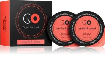 Millefiori GO Vanilla & Wood vůně do auta náhradní náplň