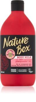 Nature Box Pomegranate povzbudzujúce telové mlieko s hydratačným účinkom