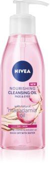 Nivea Cleansing Oil Nourishing Macadamia olio detergente nutriente per pelli secche