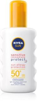 Nivea Sun Protect & Sensitive Protective Sunscreen Spray SPF 50+